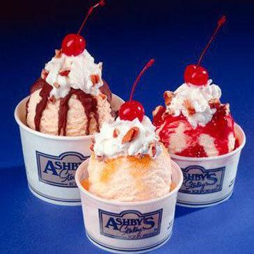 Ashby's Sterling Ice Cream Sundaes